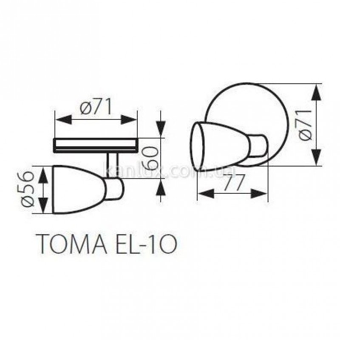 Kanlux EL-1O Toma (01020)