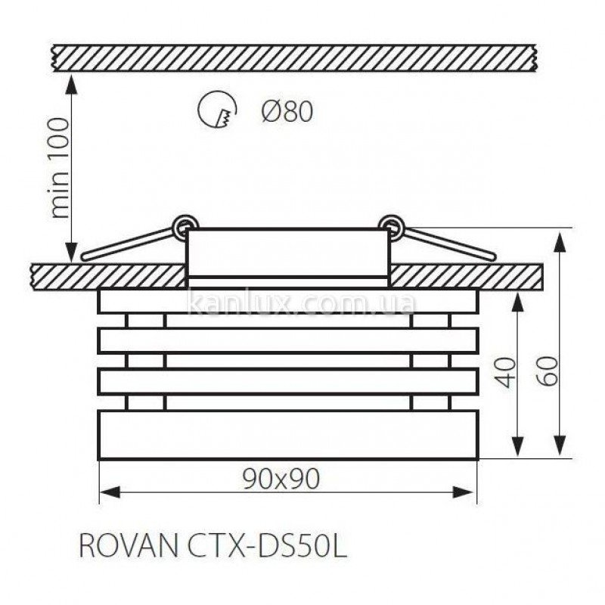 Kanlux Noma CTX-DS10G/B-C (02566)