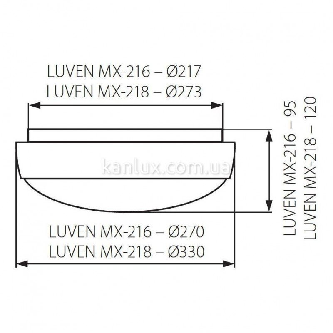 Kanlux Luven MX-218/38W-W (04241)