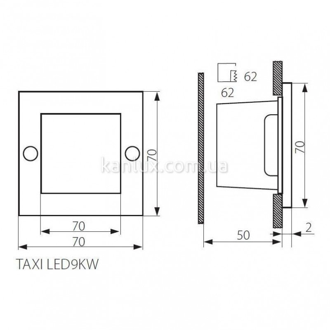 Kanlux Taxi LED9KW WW-C/M (04392)