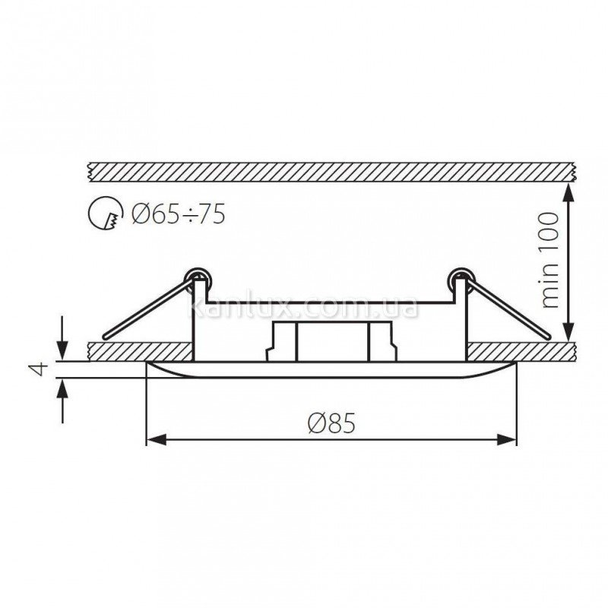 Kanlux Rodos CT-DS09-AB (04685)