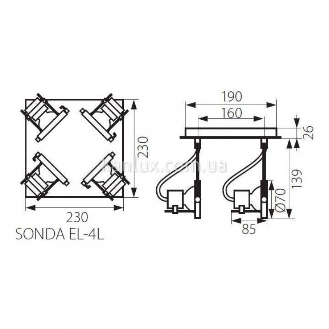 Kanlux Sonda EL-4L (04798)