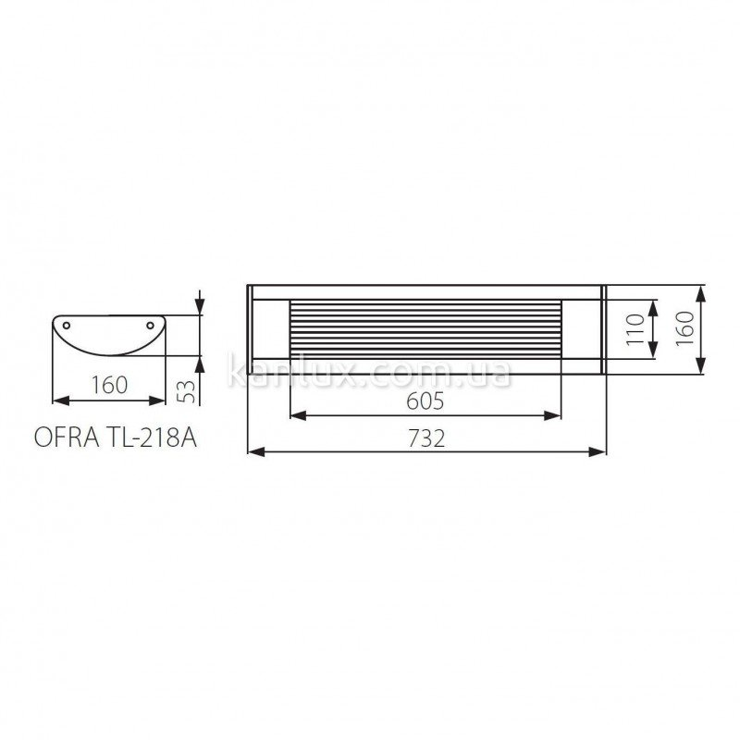 Kanlux Ofra TL-218A-W (07090)