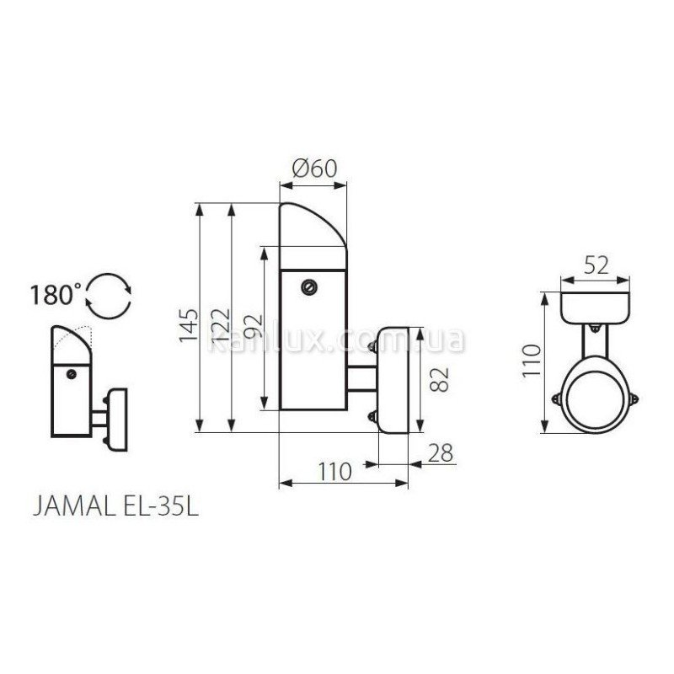 Kanlux Jamal EL-35L (18090)