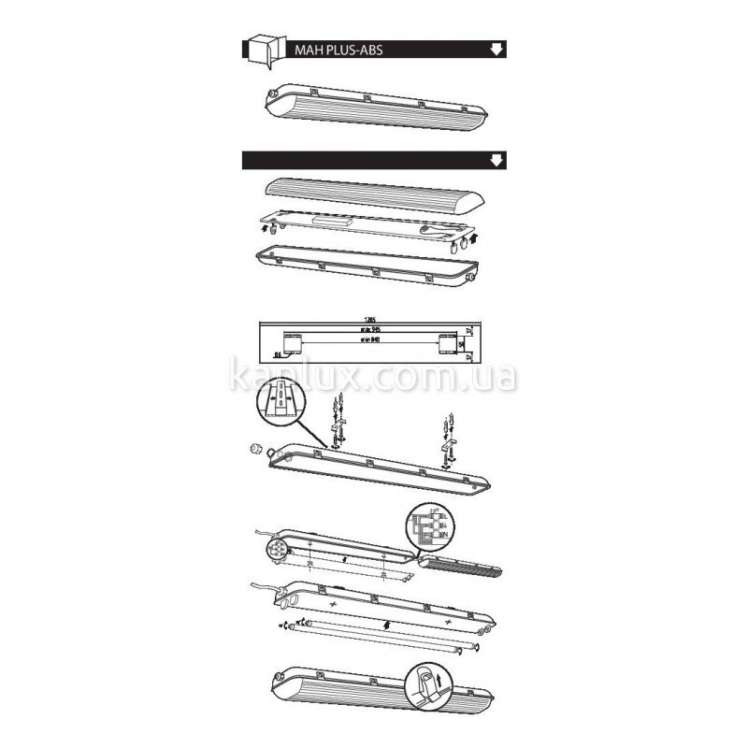 Kanlux MAH PLUS-ABS/PC MAH PLUS-136-ABS/PS (18518)