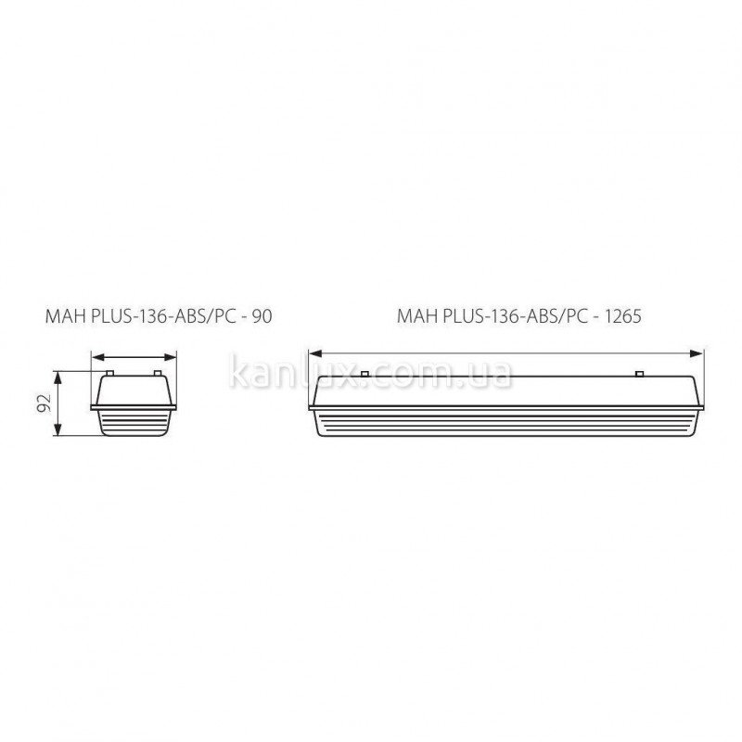 Kanlux MAH PLUS-ABS/PC MAH PLUS-136-ABS/PC (18519)