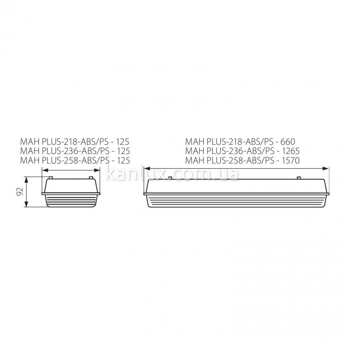 Kanlux MAH PLUS-ABS/PC MAH PLUS-258-ABS/PS (18524)