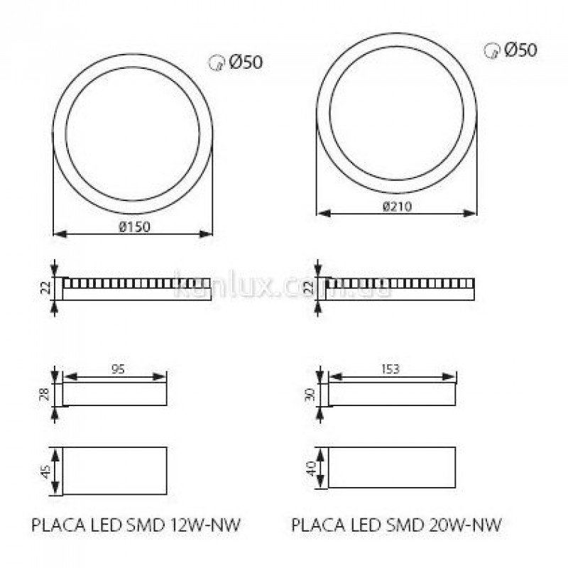 Kanlux Placa LED SMD 12W-NW (18880)
