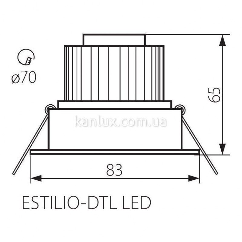 Kanlux Estilio-DTL LED-CR (19912)