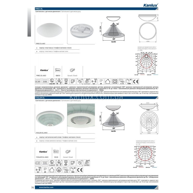 Kanlux Pires DL-60O (08810)