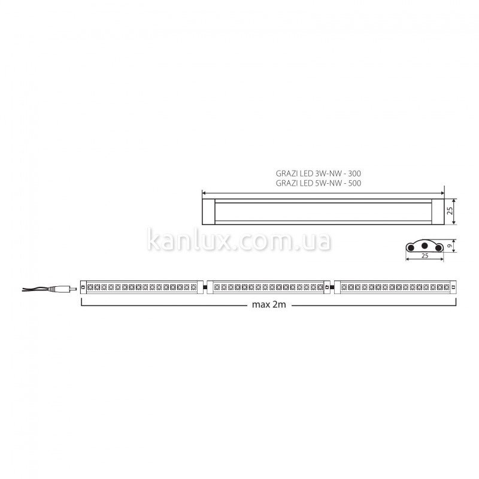 Kanlux Grazi LED 5W-NW (22162)