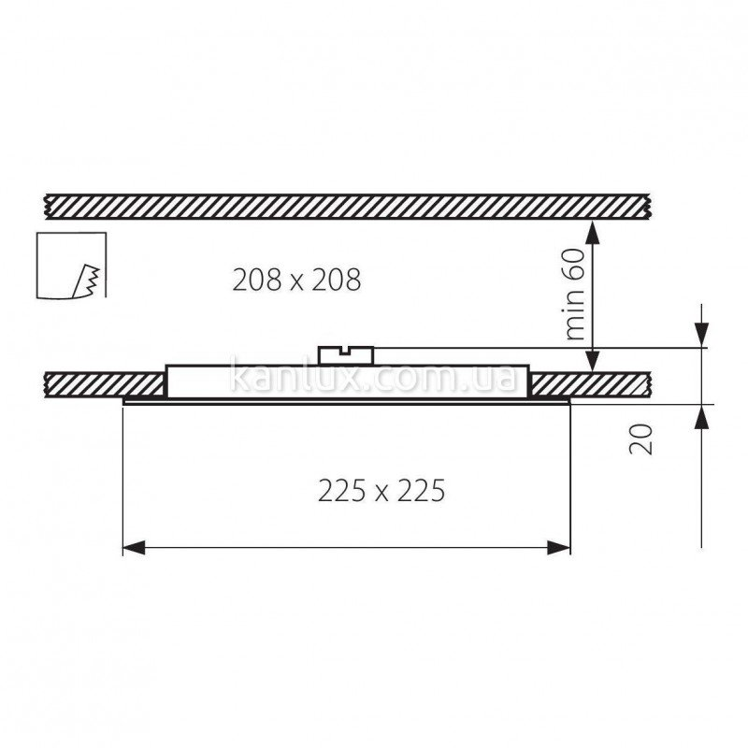 Kanlux Katro LED 18W-WW-SR (22516)