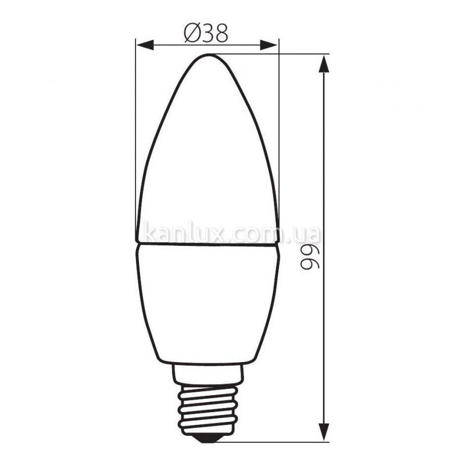 Kanlux Dun 3W T SMD E14-WW (22895)
