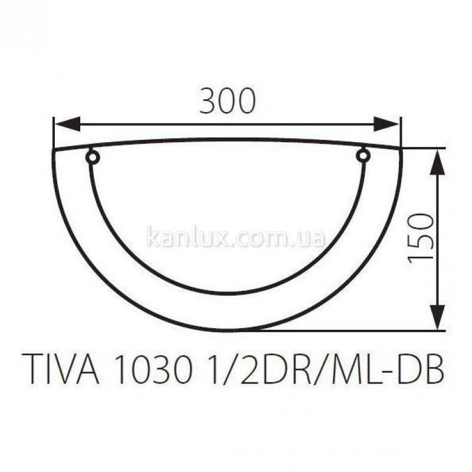 Kanlux Tiva 1030 1/2DR/ML-DB (70741)