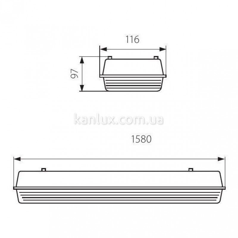 Kanlux MAH-T8 LED SMD/RF MAH-222-T8-LED-UP-1RF (910310)