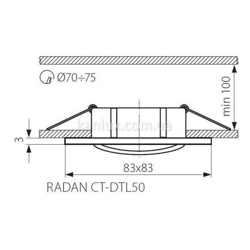 Kanlux Radan CT-DTL50 (07361)